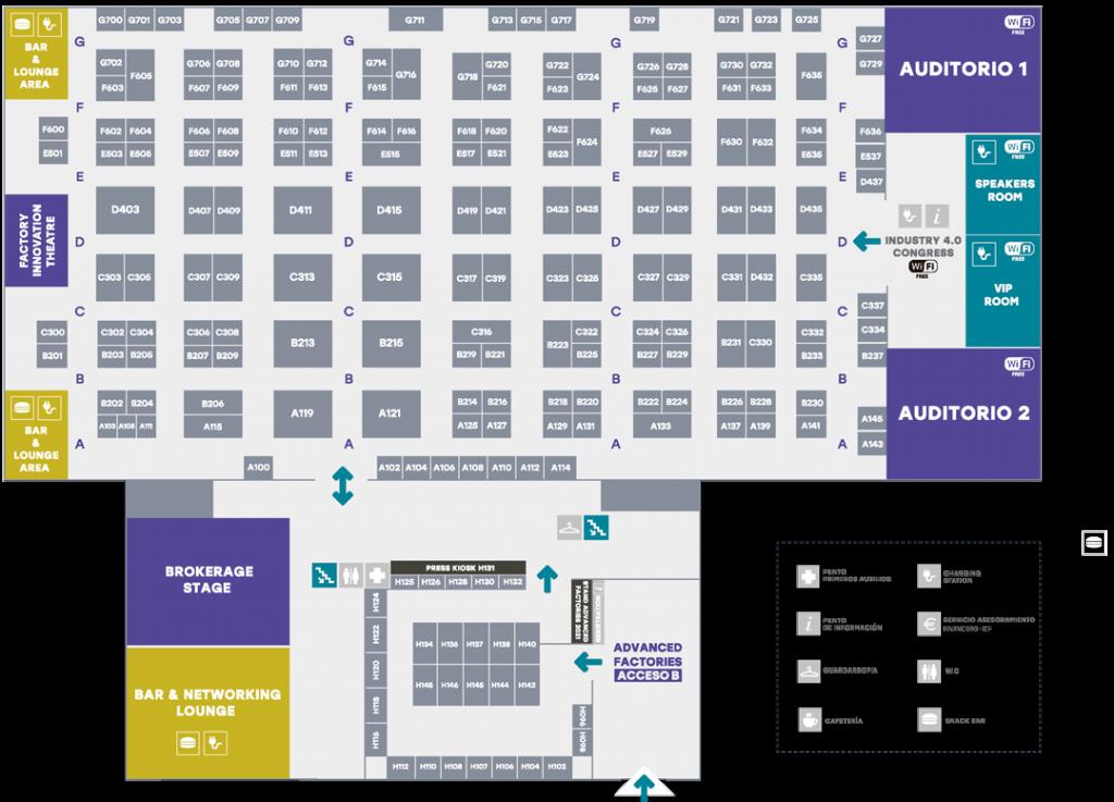 AF2020 Pavilion Map
