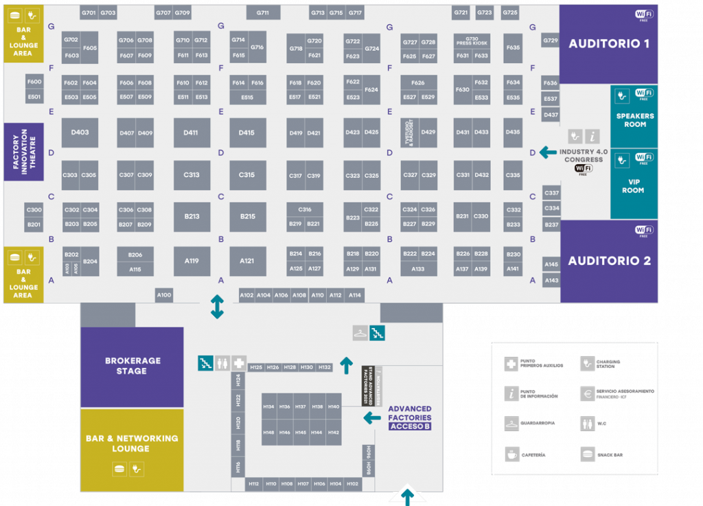 Advanced Factories Exhibitors Map | Plano de expositores AF2020