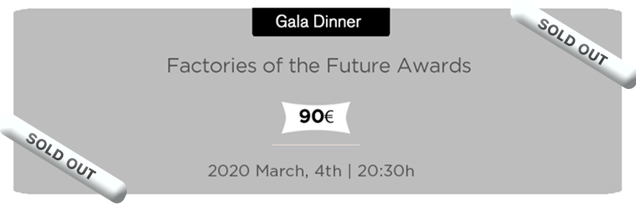 Factories of the Future Awards- Gala Dinner Pass