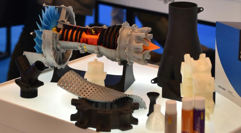 Piezas Fabricación Aditiva expuestas por Sicnova en Advanced Factories 2020