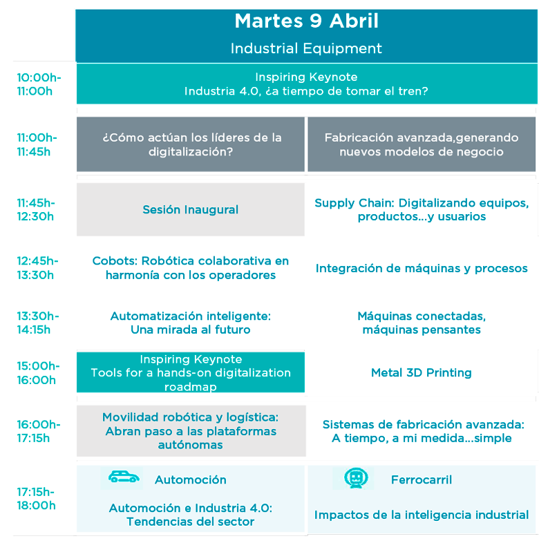 Agenda Martes 9