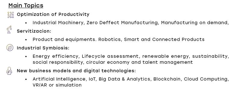 Main topics at Industry 4.0 Congress